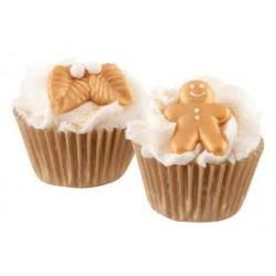 Cupcake de Noël doré